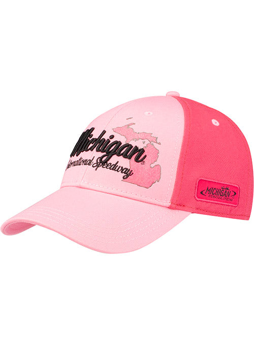 Ladies Michigan International Speedway Glitter State Outline Hat