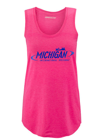 Ladies Michigan International Speedway Rhinestone Tank Top