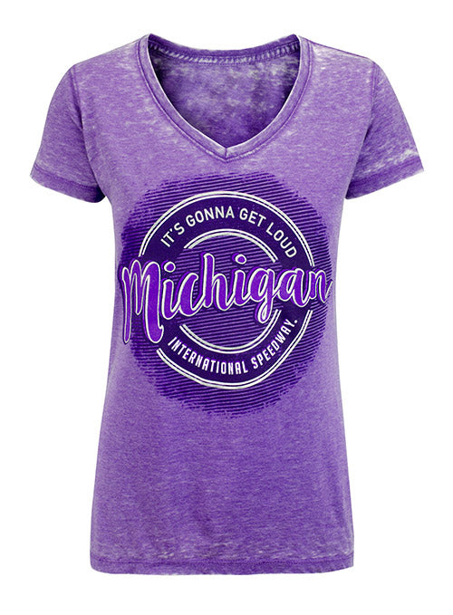 Ladies Michigan International Speedway Purple T-Shirt