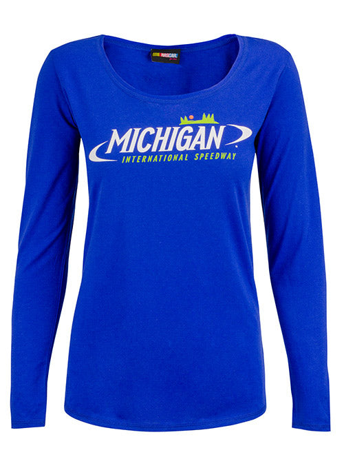 Ladies Michigan International Speedway Long Sleeve T-Shirt