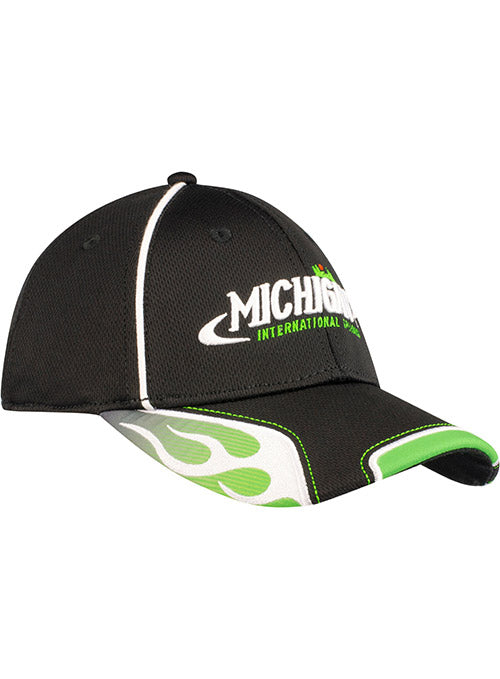 Michigan International Speedway Green Flame Hat
