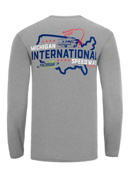 Michigan International Speedway Or Bust Long Sleeve T-Shirt