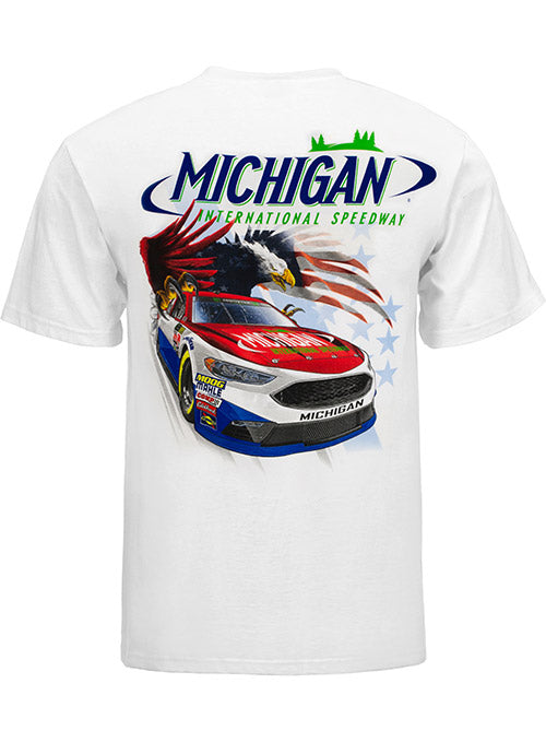 Michigan International Speedway Patriotic Car T-Shirt