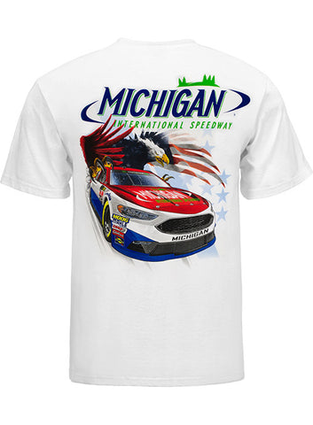 Michigan International Speedway Retro Car T-Shirt