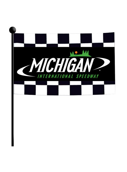 Michigan International Speedway Checkered Stick Flag