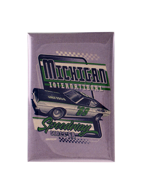 Michigan International Speedway Vintage Button Magnet