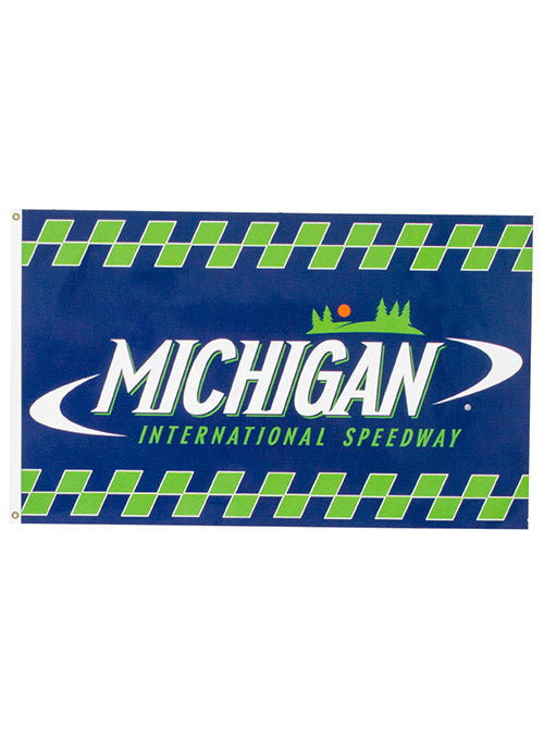Michigan International Speedway Green and Blue Checkered Flag