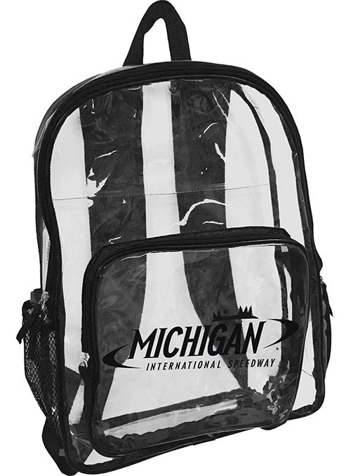 Michigan International  Speedway Clear Backpack