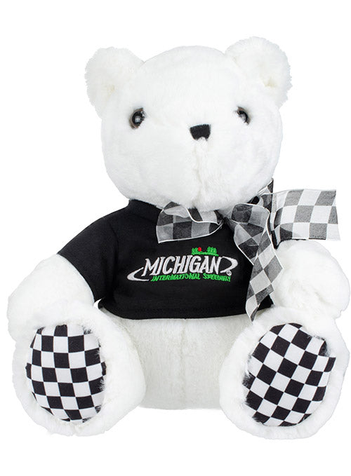 Michigan International Speedway Checkered Paw Teddy Bear