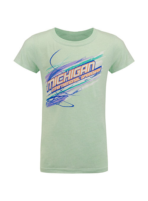 Youth Girls Michigan International Speedway Pastel T-Shirt