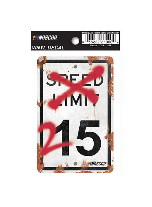 NASCAR Speed Limit Vinyl Decal