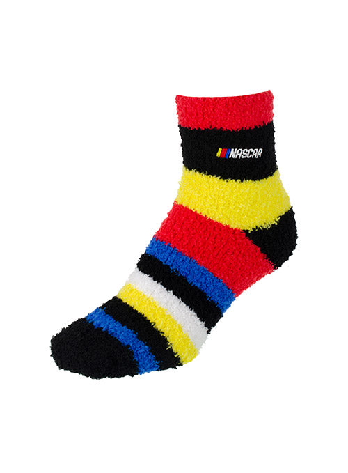 Ladies NASCAR Fuzzy Stripe Socks