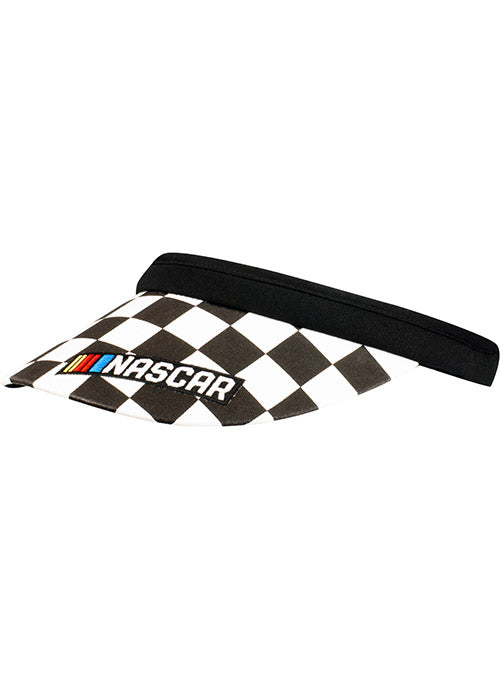 Ladies NASCAR Checkered Clip On Visor