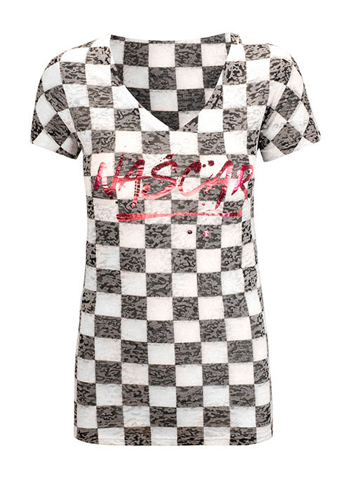 Ladies NASCAR Checkered T-Shirt
