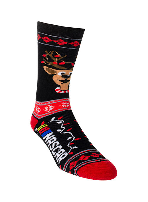 NASCAR Ugly Sweater Reindeer Socks