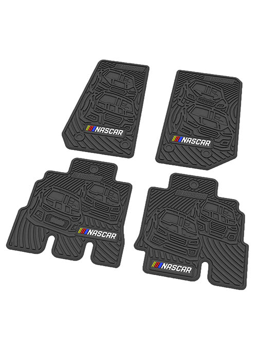 NASCAR Jeep Wrangler 4-Door Floor Mat Set