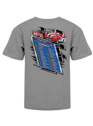 NASCAR Youth 2019 Schedule T-Shirt
