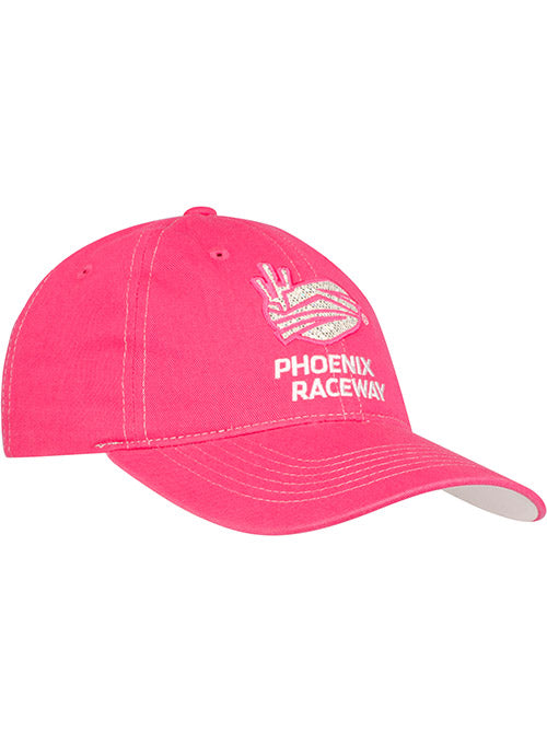 Ladies Phoenix Raceway Pink Shimmer Cotton Unstructured Hat