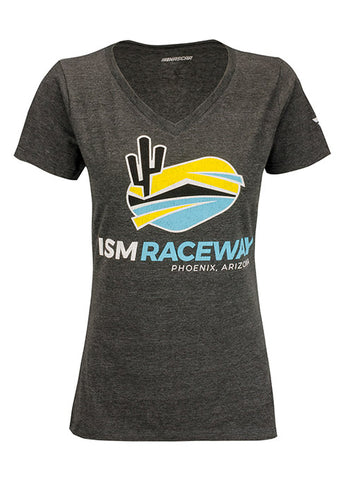 Ladies Kansas Speedway V-Neck T-Shirt