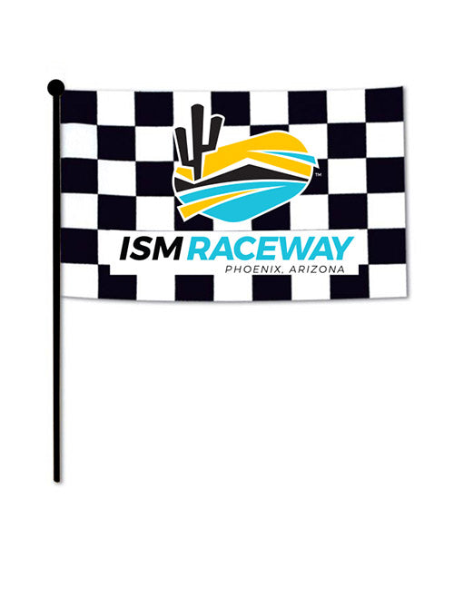 ISM Raceway Checkered Stick Flag