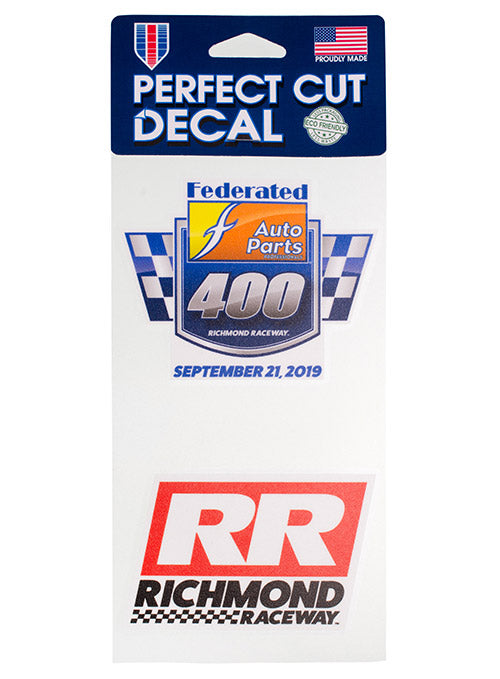 2019 Federated Auto Parts 400 2-Pack Decal