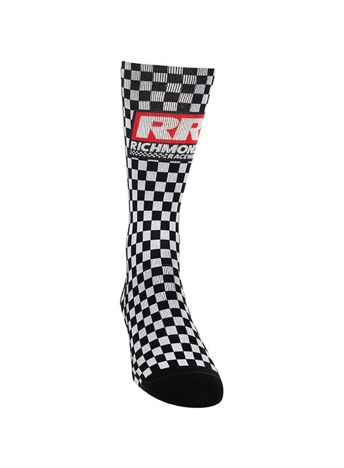Richmond Raceway Checkered Sock