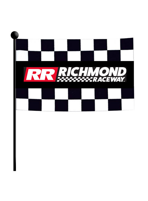 Richmond Raceway Checkered Stick Flag