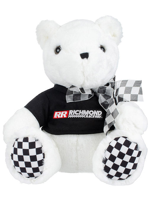 Richmond Raceway Checkered Paw Teddy Bear
