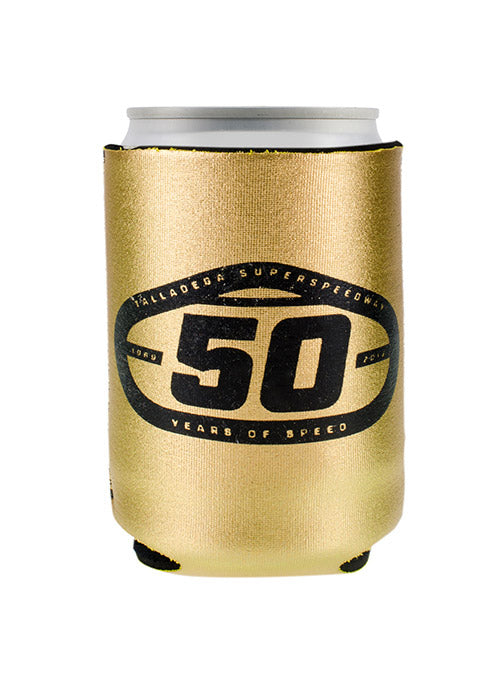 Talladega Superspeedway 50th Anniversary Gold Can Cooler