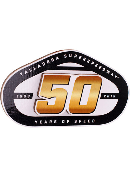 Talladega Superspeedway 50th Anniversary Layered Wood Magnet