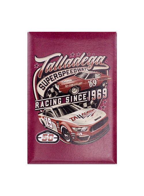 Talladega Superspeedway 50th Anniversary Vintage Button Magnet