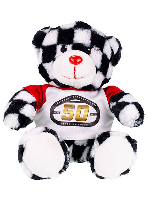 Talladega Superspeedway 50th Anniversary Checkered Teddy Bear