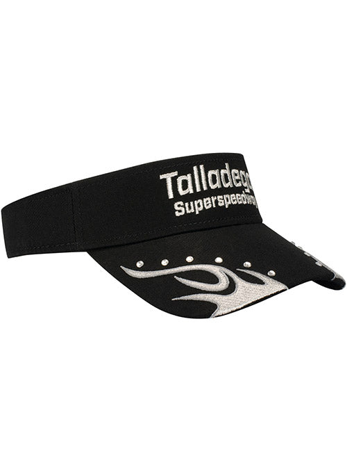 Ladies Talladega Superspeedway Rhinestone Flame Visor