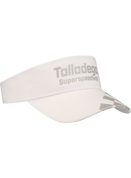Ladies Talladega Superspeedway Checkered White Visor