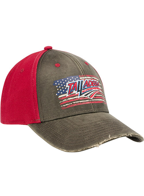 Talladega Superspeedway Distressed American Flag Hat