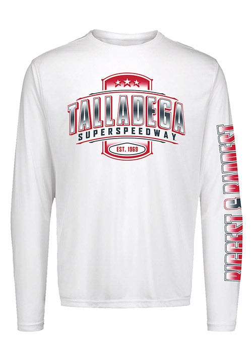 Talladega Long Sleeve White Tee