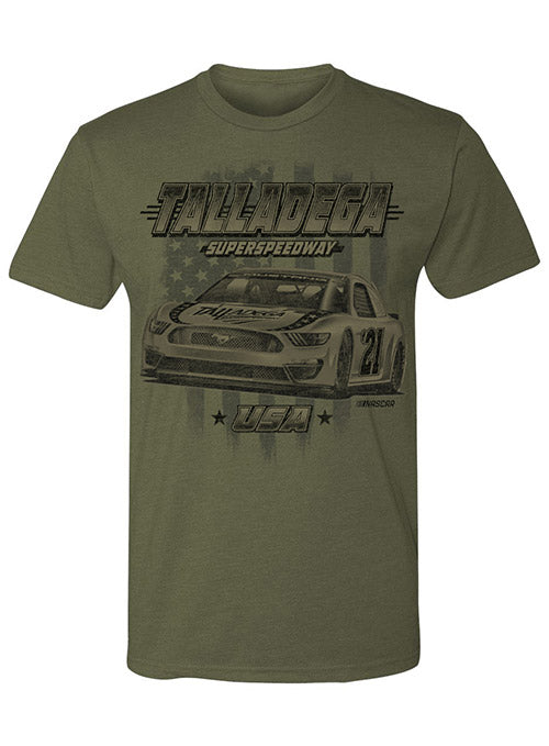 Talladega Superspeedway Military Green Tee
