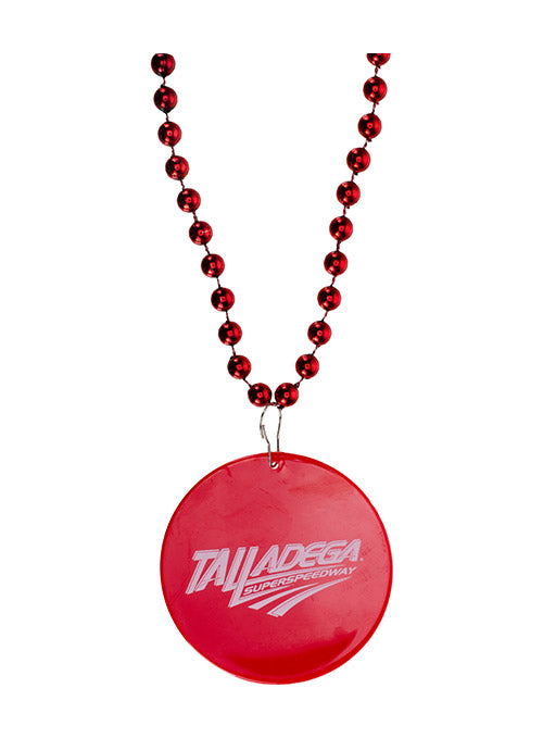 Talladega Superspeedway Red Mardi Gras Beads