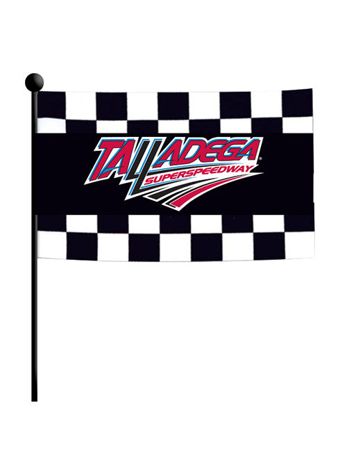 Talladega Superspeedway Checkered Stick Flag