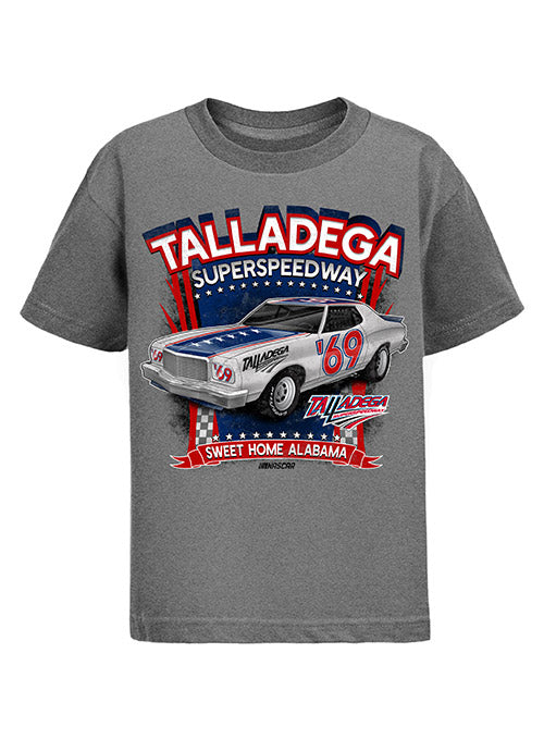 Youth Talladega Superspeedway  Retro T-Shirt