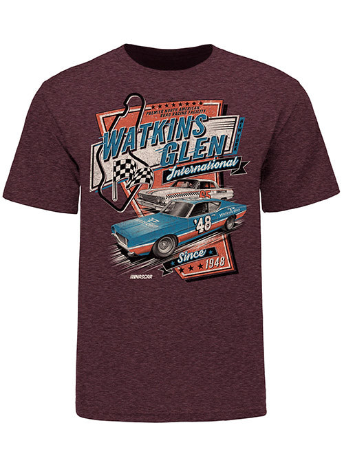 Watkins Glen International Retro Car T-Shirt