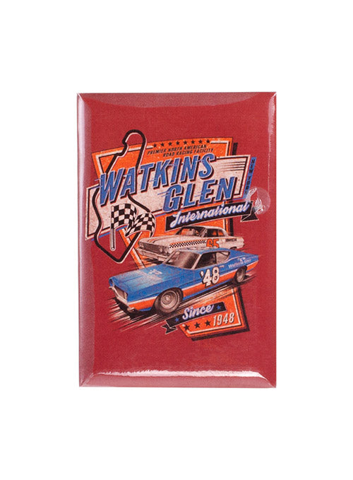 Watkins Glen International Vintage Button Magnet