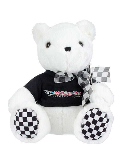 Watkins Glen International Checkered Paw Teddy Bear