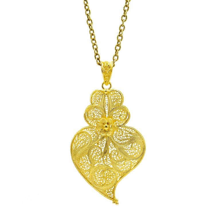 Viana Heart Necklace Charm