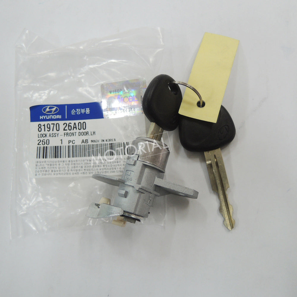 2000-2005 HYUNDAI SANTA FE Genuine OEM Front Left Door Lock Key Assy 8197026A00