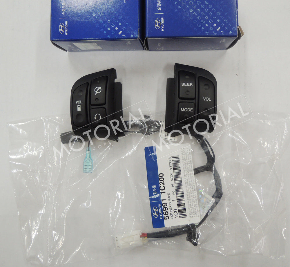 2006-2010 HYUNDAI ACCENT / VERNA OEM Audio Handsfree Switch + Wire 3pcs Set