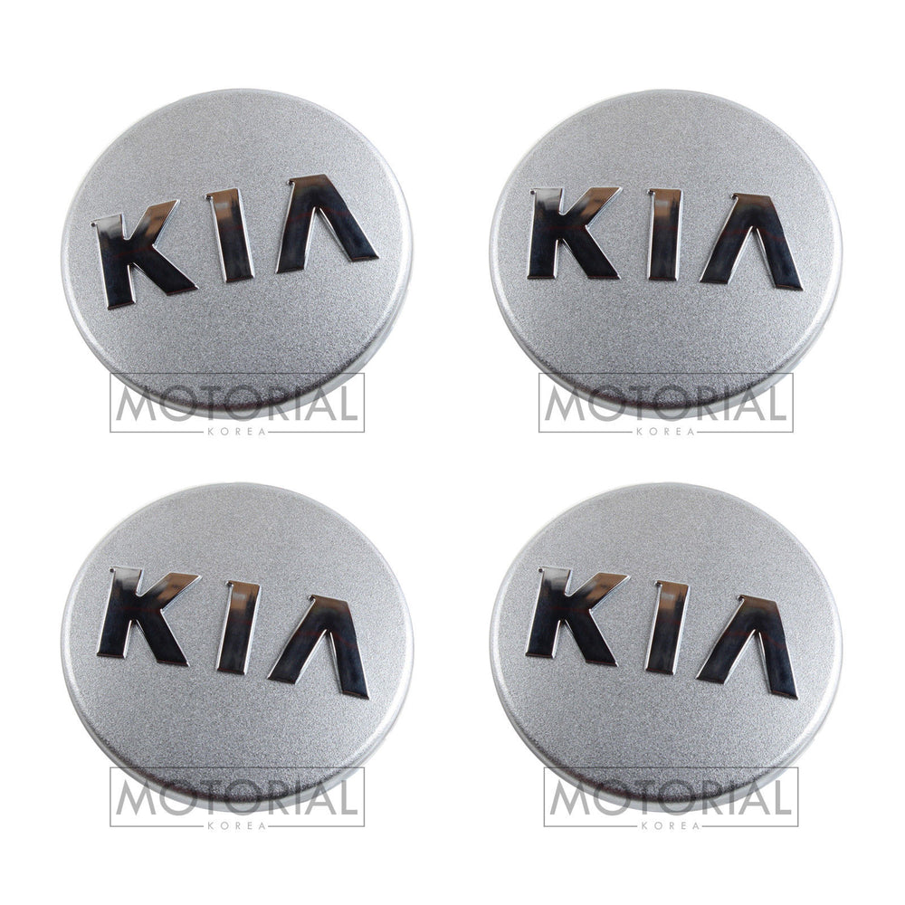 2012-2018 KIA RIO / PRIDE Genuine OEM KIA Logo Wheel Center Hub Cap 4Pcs Set