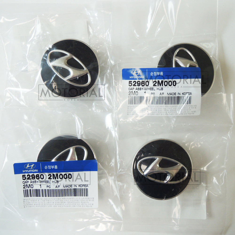 2008-2016 HYUNDAI GENESIS COUPE Genuine OEM Wheel Center Hub Cap 4EA 1Set
