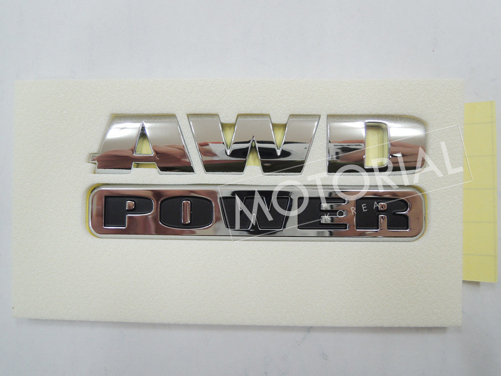 2006-2012 SSANGYONG REXTON Genuine OEM Rear AWD POWER Emblem