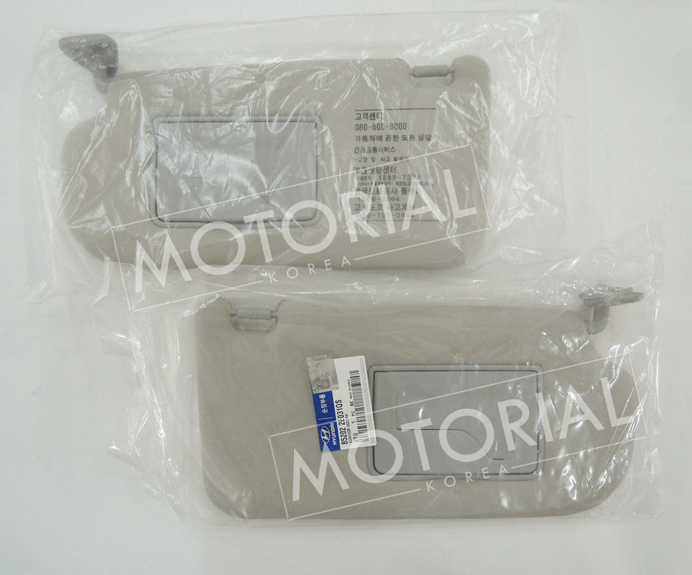 2005-2009 HYUNDAI TUCSON Genuine OEM Sunvisor Assy Left + Right 2EA Set